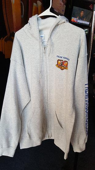 GIldan Heavy Duty Zipper Hooded Sweat Shirts with Full Color PHOB Logo