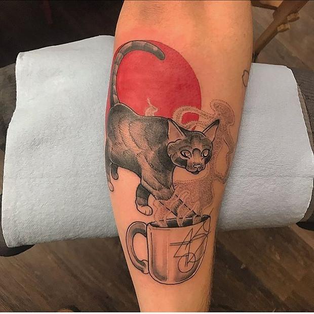 The 'ol cat 'n cup Tattoo