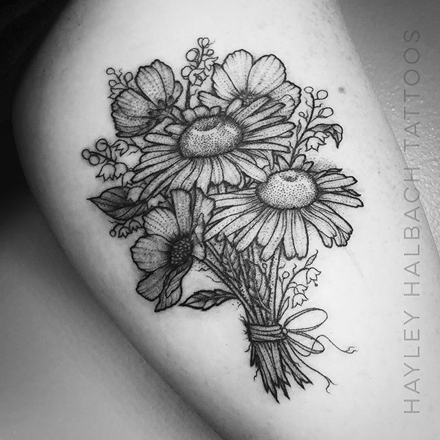 Bouquet Tattoo by Hayley
