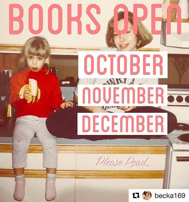 Becka has Opened the Books!
