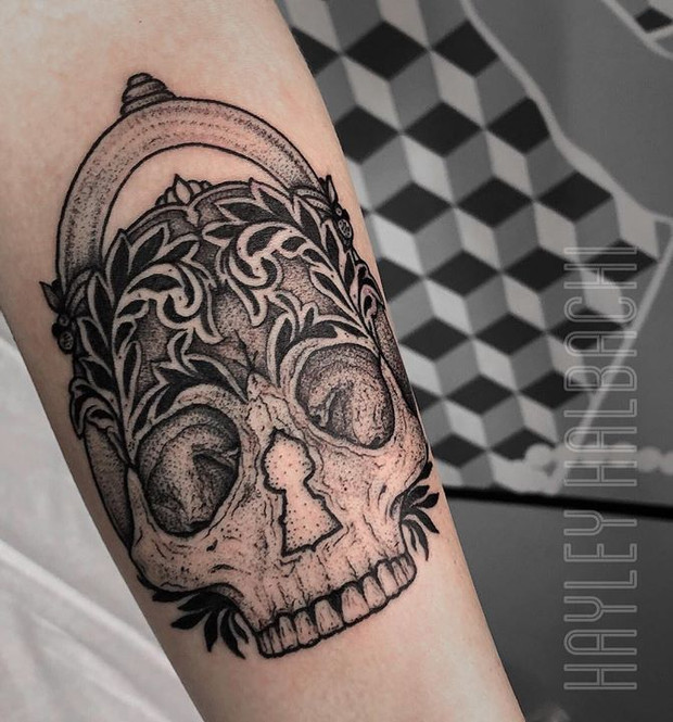Rad Skull by Hayley Halbach