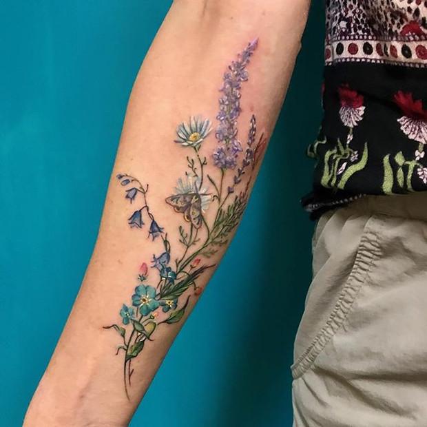 Beautiful Forearm Tattoo by Becka