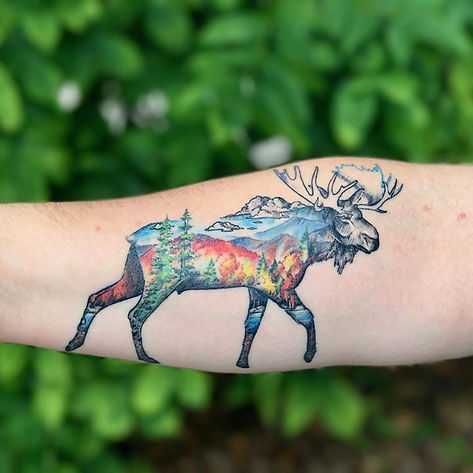 Awesome Moose Tattoo