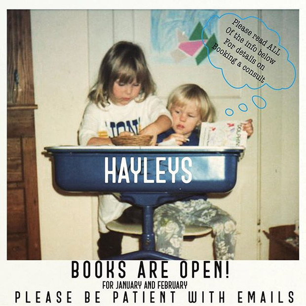 Hayley's books are open!