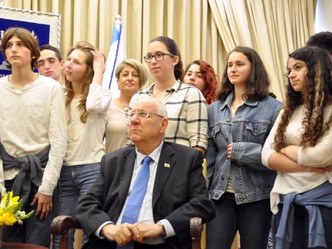 JustSpirulina Team With Israeli President Rivlin