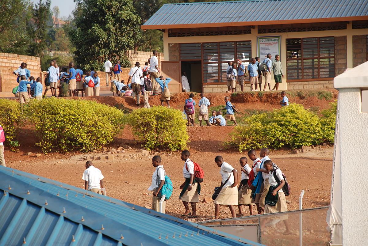 Kids at school in Rwanda