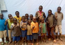 Miti and the kids in Congo