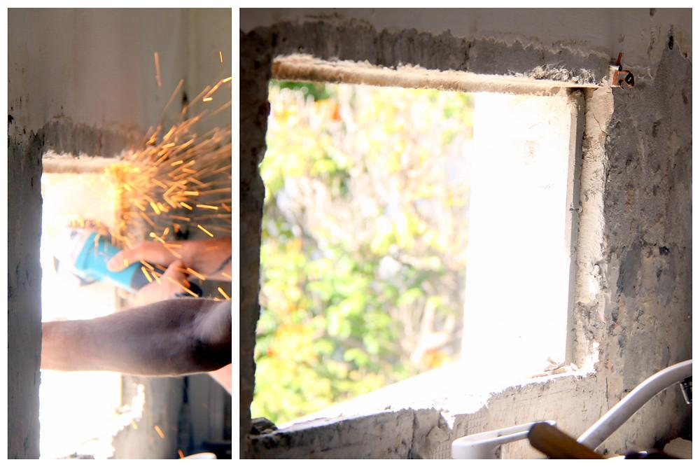 עיצוב פנים לבתים ישנים - אחרי הריסת חלון ובניה מחדש