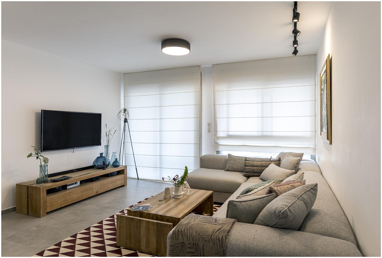 דירה בצפון תל אביב - הסלון