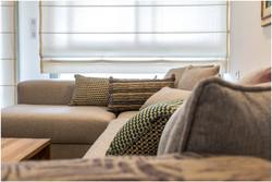 דירה בצפון תל אביב - ספה בסלון