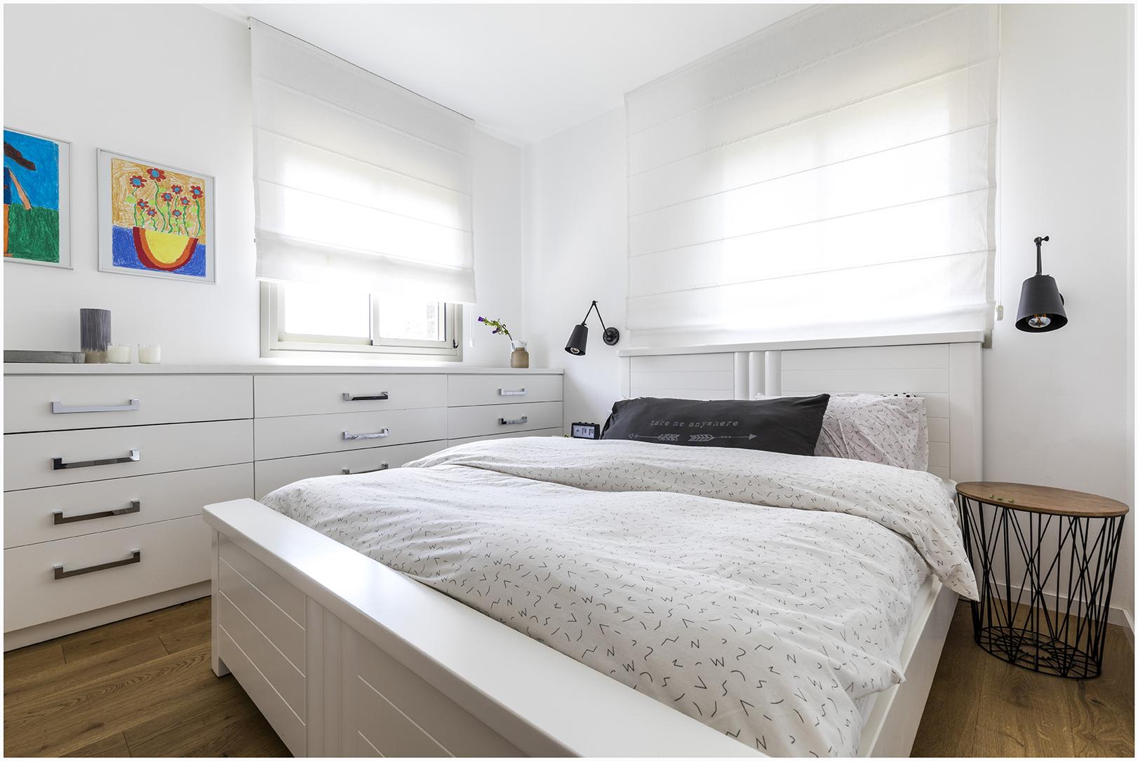דירה בצפון תל אביב -חדר שינה הורים