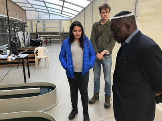 Head of Ugand's Jewish Community Visits JustSpirulina in Israel
