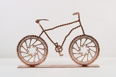 Copper Bicycles on Base