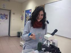 10 grade student in spirulina lab