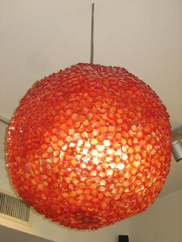 Orange Ball Lighting Fixture