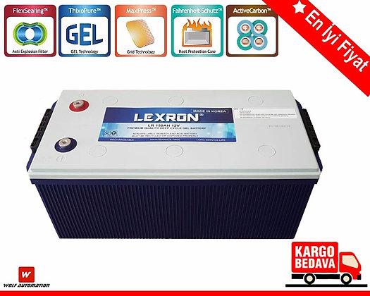 Lexron 12 v150 Ah jel akü