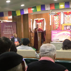 Geshe Dorji Damdul - Director, Tibet House New Delhi, talks about the need to spread awareness on Universal Ethics at the launch on the Goodness App