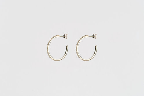 Bevelled Blush Hoop Earrings