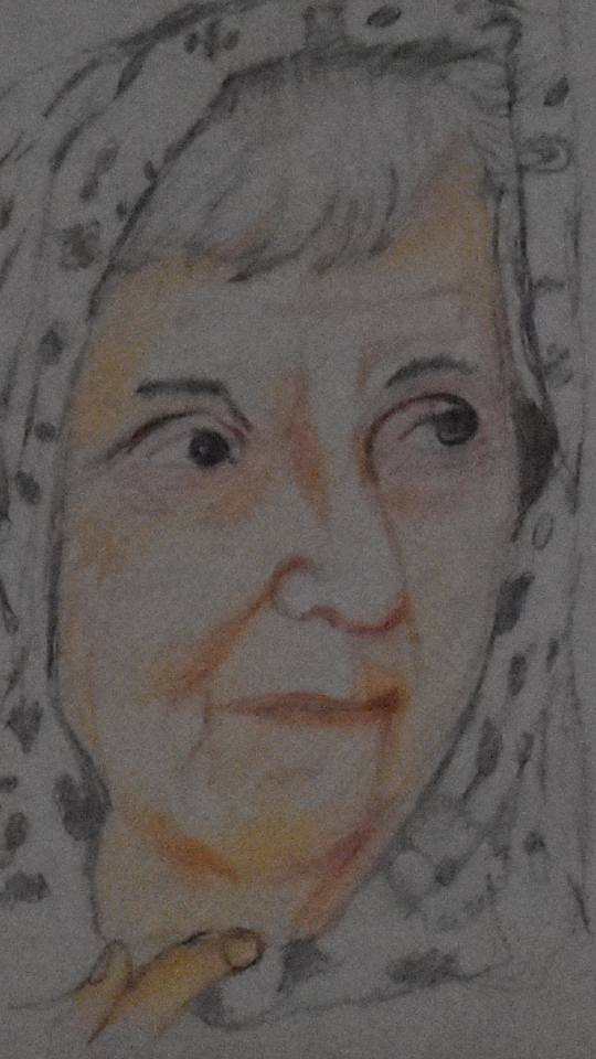 Portrait of Dr. Ruth Pfau painted by Master Haider