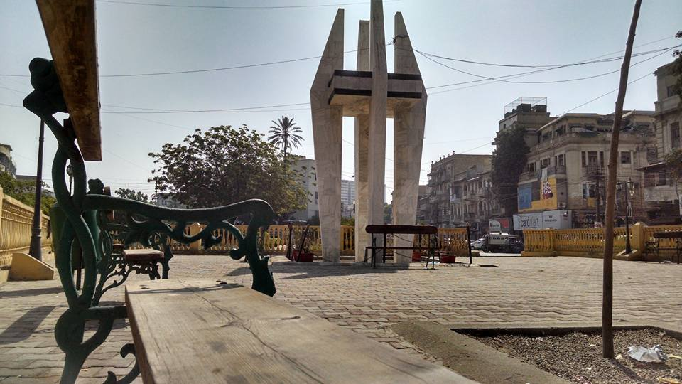 KARACHI: A space to rest in the middle of the chaos at Pakistan Chowk.