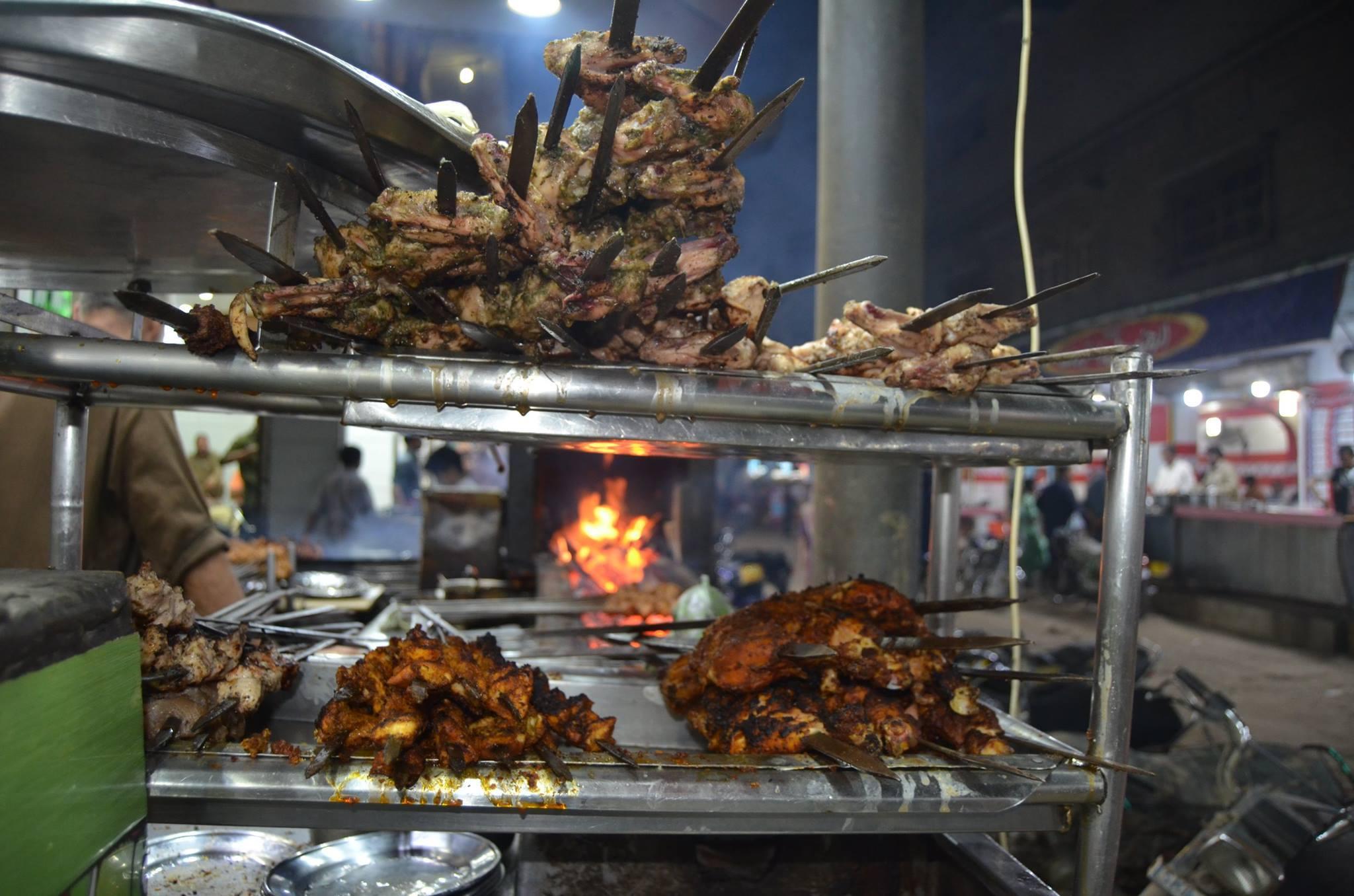Delhi Food Street springs to life at night