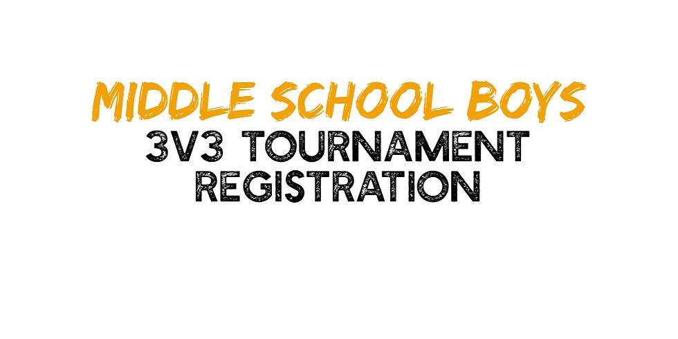 Middle School Boys - 3v3 Tournament