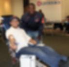 Chicago Bear runningback Jordan Howard at a LifeSource Blood Drive