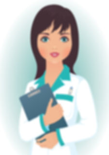 Photo of a female nurse holding clipboard