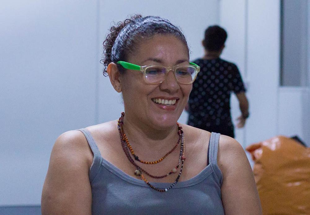 Andreia Miranda, assistente social e voluntária do Projeto Mulheres de Visão