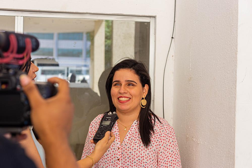 Camila Hannah, participante do projeto Mulheres de Visão