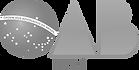 Imagem vetorial onde vemos o globo da bandeira nascional brasileira com a faixa ordem e progresso, seguido de um triângulo representando a letra A e um vetor da letra B. Os símbolos formam a sigla OAB. Logo abaixo, vemos o nome Piauí com letras maiúsculas.
