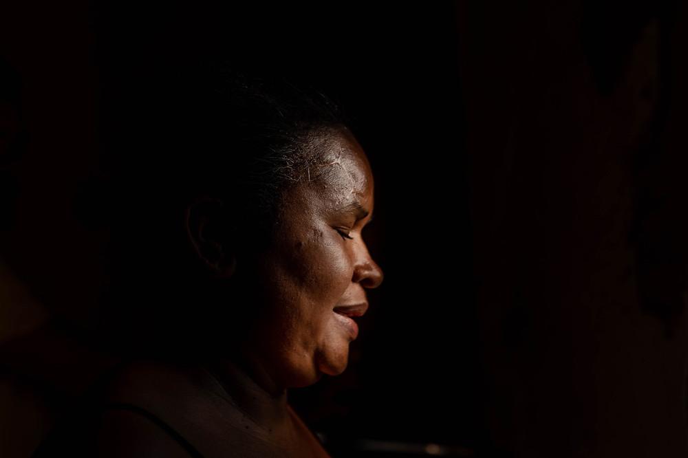 O rosto de Maria Antonio, participante do projeto Mulheres de Visão
