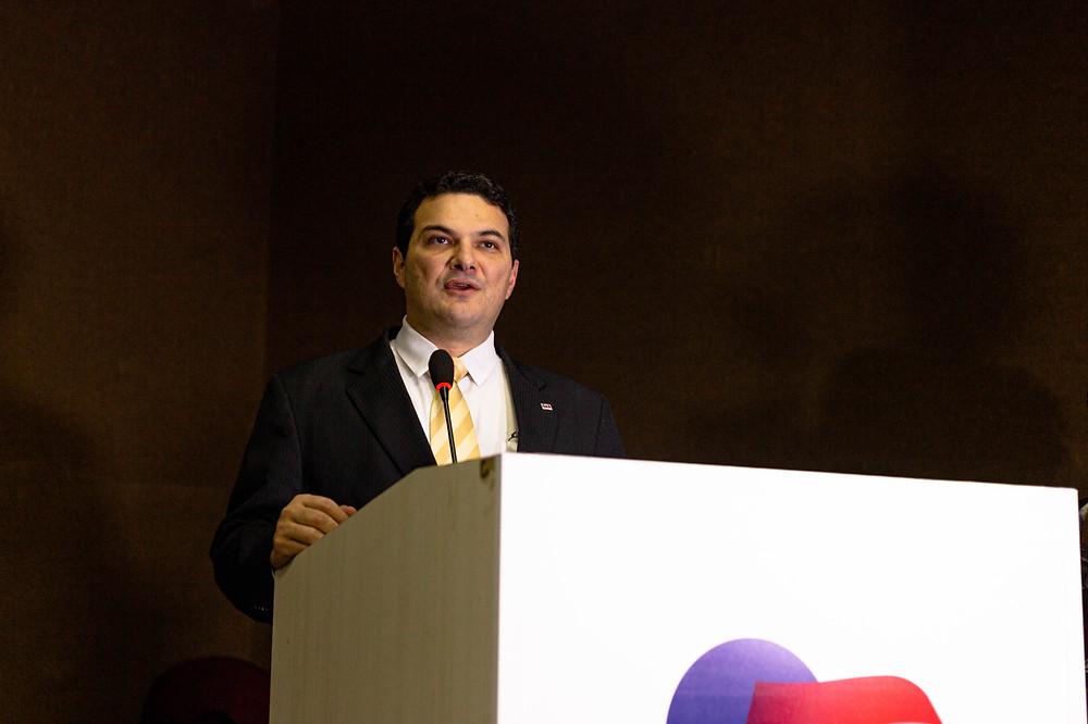 Celso Barros, presidente da OAB- PI  no lançamento do Mulheres de Visão