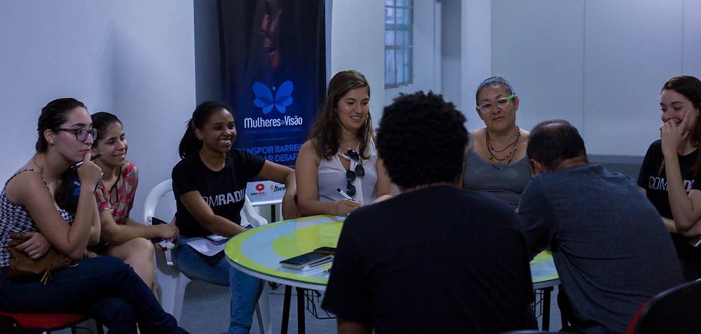 Reunião com os voluntários do Projeto Mulheres de Visão