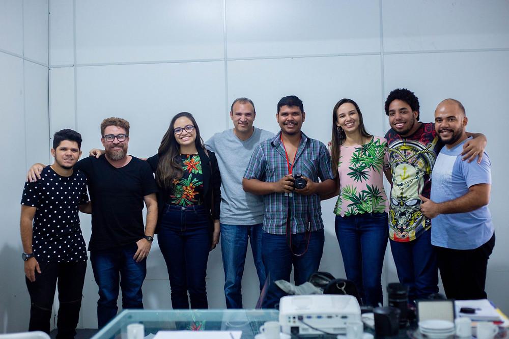 Equipe de coordenação dor Projeto com os membros da produtora OFFROUTE.