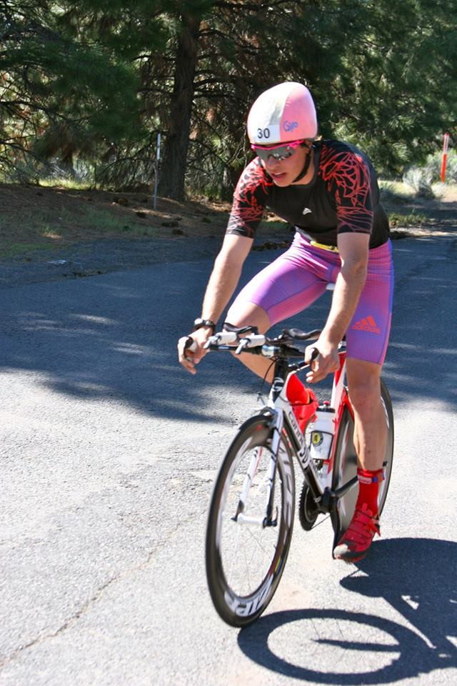 Aero was the name of the game on the bike. Thankfully, Dr. Hodgert had this stylish helmet to help me stay streamlined.