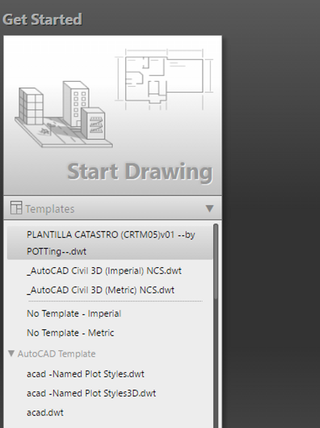 Plantilla catastro el Start Drawing
