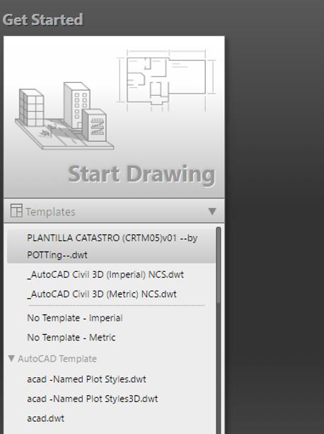 Plantilla catastro el Start Drawing