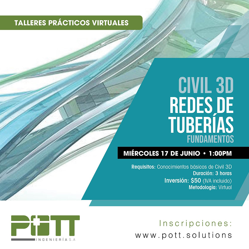 Civil 3D Redes de Tuberias (fundamentos) | VIRTUAL