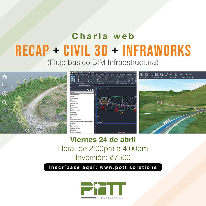 Recap + Civil 3D + Infraworks (Charla Web)