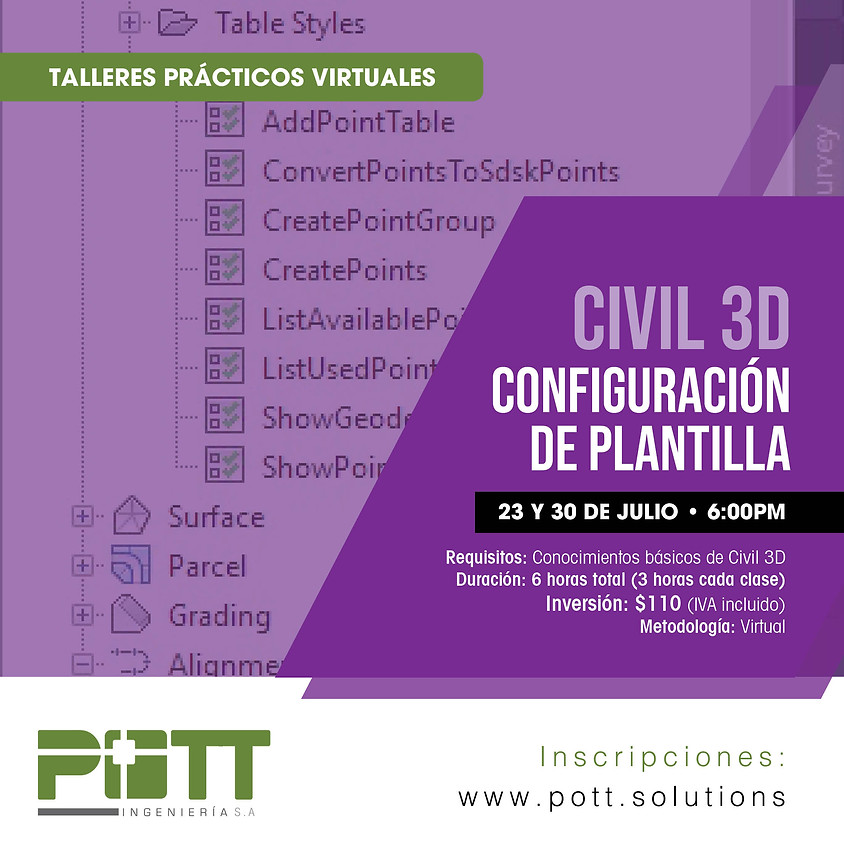 Civil 3D Configuración de Plantillas | VIRTUAL