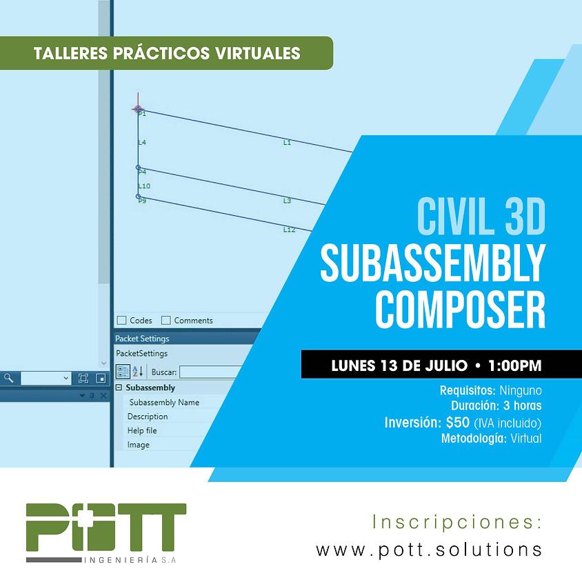 Civil 3D Subassembly Composer   VIRTUAL