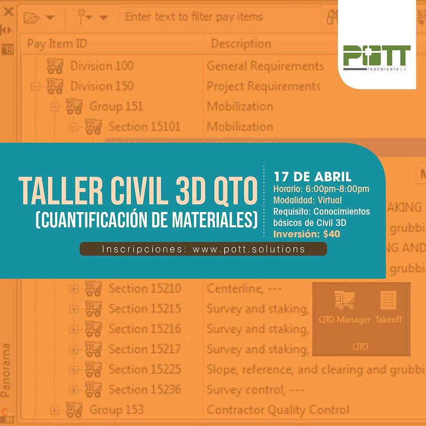 Civil 3D QTO ( cuantificación de materiales )