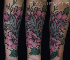 Fleur De Lis Magnolia tattoo by Tita Jewels