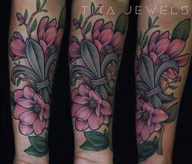 Fleur De Lis Magnolia tattoo by Tita Jewels