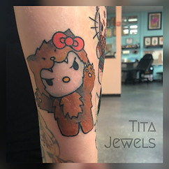 Hello Kitty Wolf tattoo by Tita Jewels