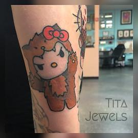 Hello Kitty Wolf tattoo by Tita Jewels