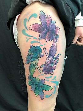 Pisces Mermaids tattoo by Tita Jewels
