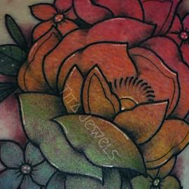Rainbow Ombre Flowers CLOSEUP by Tita Jewels