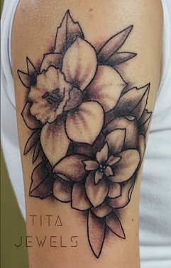Flowers tattoo by Tita Jewels
